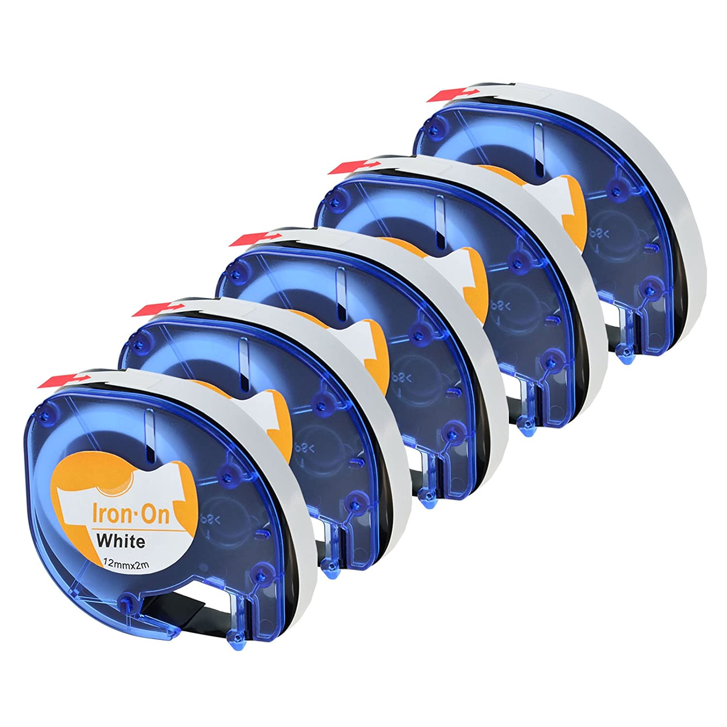 6 PK LT-18771 Fabric Iron-on White Label Tape for DYMO LetraTag Plus LT100H QX50