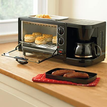 Brylanehome Toaster Oven, Griddle U0026 Coffee Maker Combo [Kitchen]
