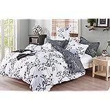 طقم مفارش سرير 6 قطع بمقاس كبير، غطاء لحاف قطعة واحدة = 220×240 سم، 1 ملاءة مثبتة = 250×270 سم، 2 غطاء وسادة = 50×75 سم…