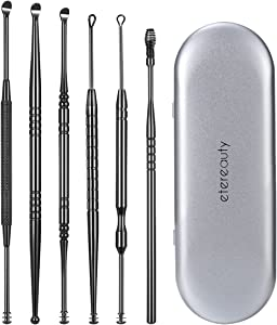 Ear Wax Removal, ETEREAUTY Ear Pick Stainless Steel Medical Grade with Storage Box and Cleaning Brush
