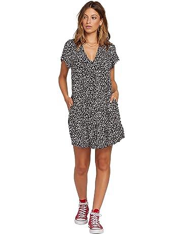 8c09506060192 Volcom Women's Now Button Through Short Sleeve Dress
