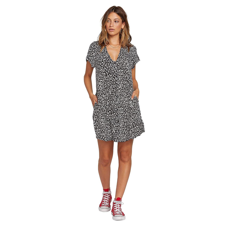 Volcom Womens Now Button Through Short Sleeve Dress
