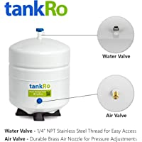 RO Expansion Tank 4 Gallon – NSF Certified – Compact Reverse Osmosis Water Storage Pressure Tank by tankRO – with FREE Tank Ball Valve