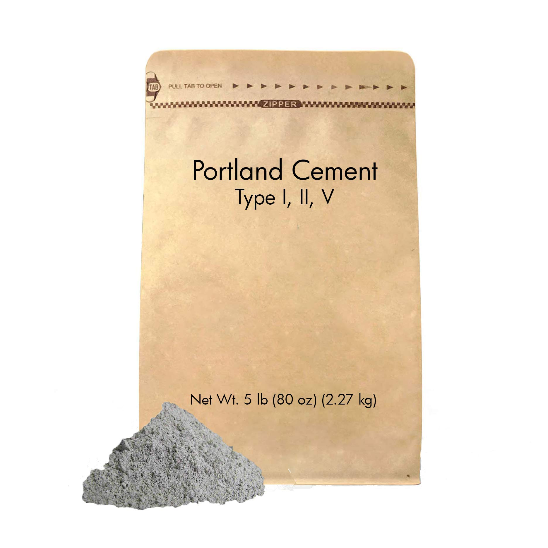 Portland Cement (5 lb.) Eco-Friendly Packaging, Sulfate Resistant, Low Hydration Heat, Type I, II, V