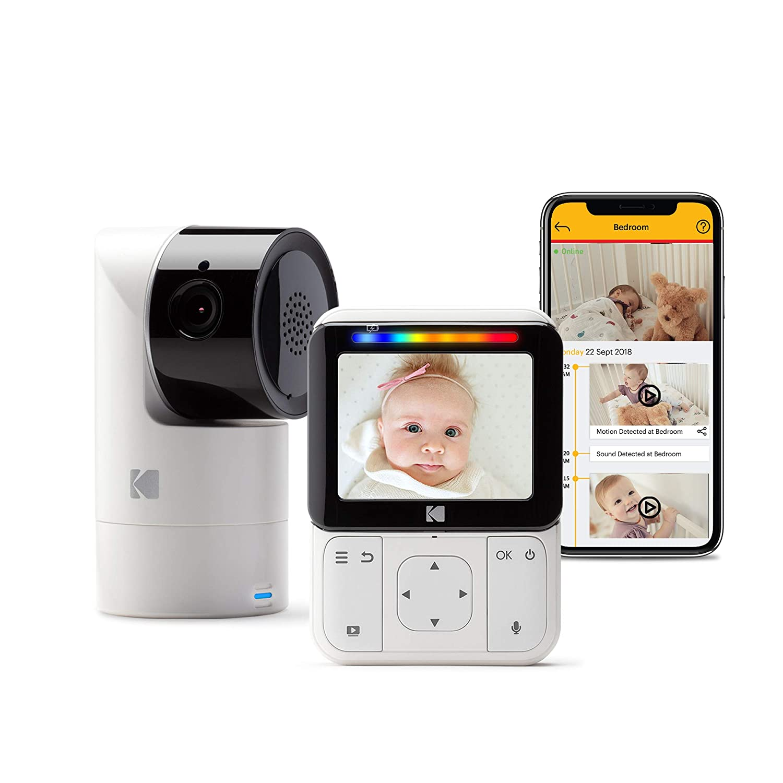 KODAK Cherish C225 Video Baby Monitor - Tilt/Pan/Zoom Camera, 2.8