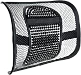 SANLINKEE Mesh Lumbar Support, Mesh Back Support with Elastic Strap, Chair Back Rest Lumbar Support for Office Chair Car Seat for Back Pain Relief