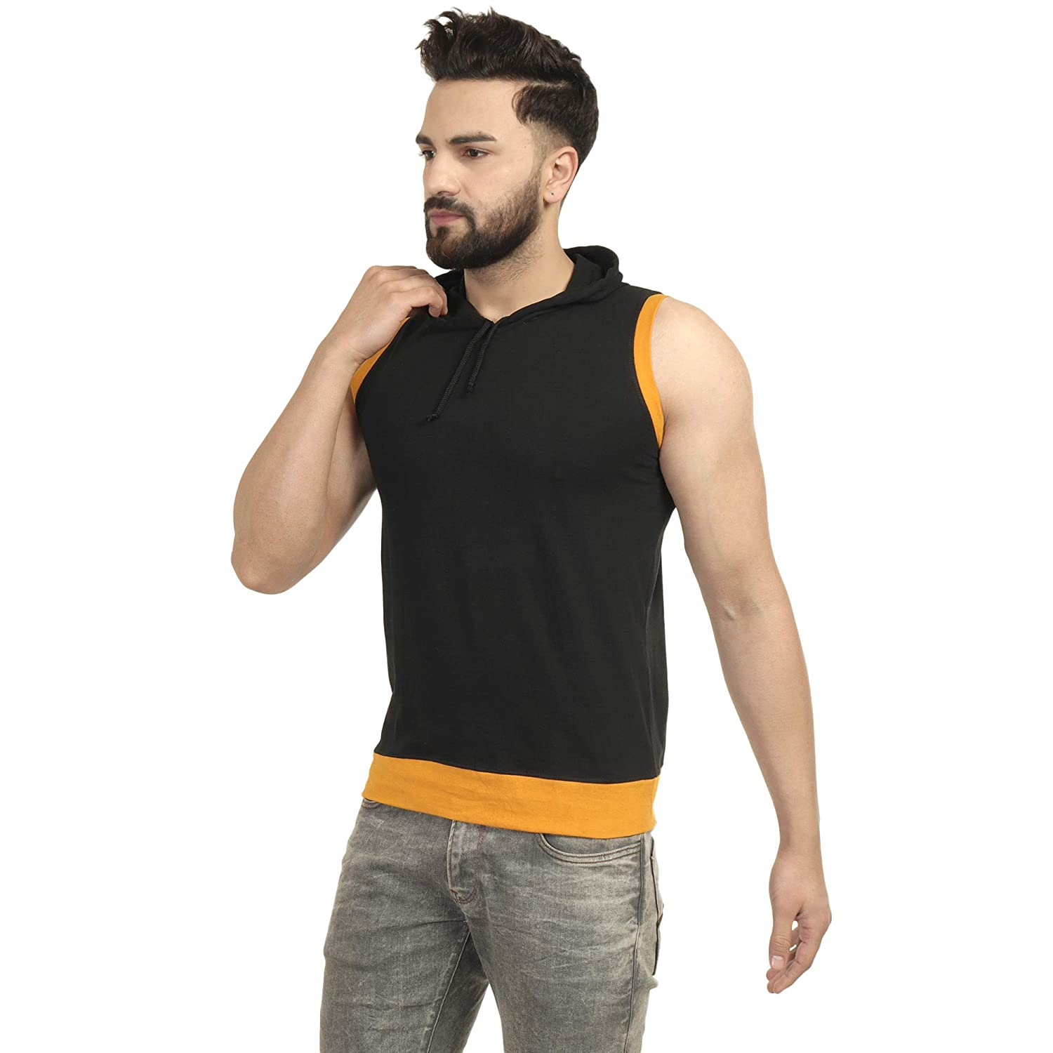 CHIRKUT Men's Plain Slim Fit T-Shirt