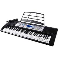 Mugig MLS-939 Piano Electrico de 61 Teclas con Pantalla LCD multifunción, micrófono y soporte para Atril, 500 timbres…