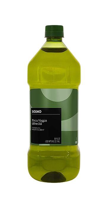 Amazon Brand - Solimo Extra Virgin Olive Oil, Mediterranean Blend, 51 Fl. Oz