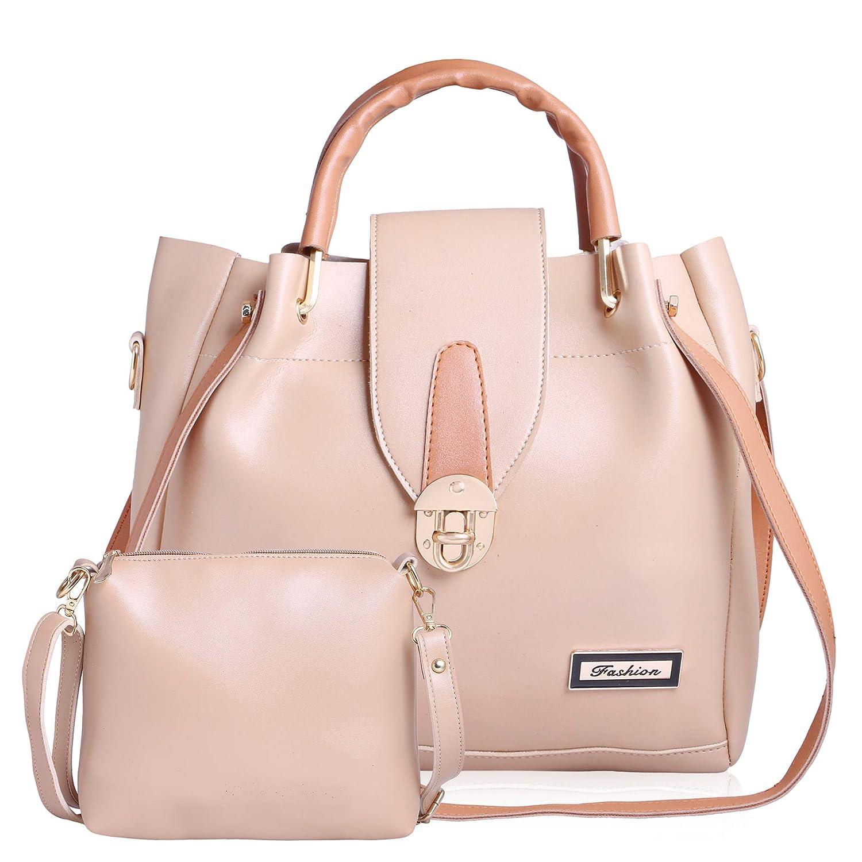 Generic Women s PU Classic Hand Bag White  Amazon.in  Shoes   Handbags 049511b33e4b5