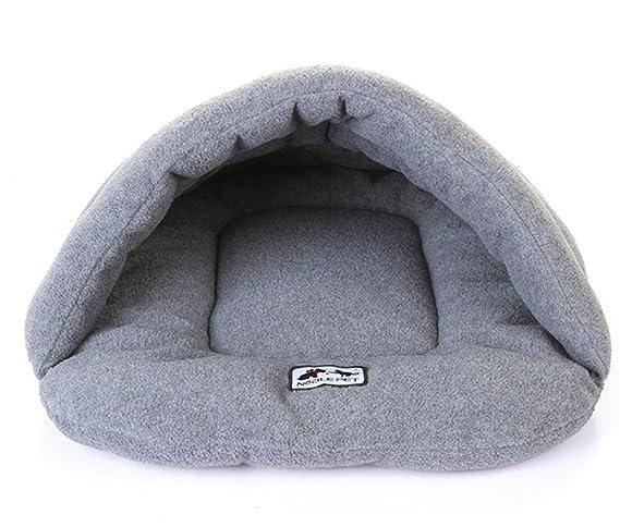 Venta de Hot Cojin Algodón Suave y Cálido Saco de Dormir Cueva Cama Para Perro Gato 4 tamaño 6 colores (L (68 * 58 cm), Gris): Amazon.es: Hogar