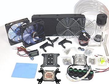 Amazon.com: Nhowe Best DIY 240 Water Cooling Kit With CPU GPU ...