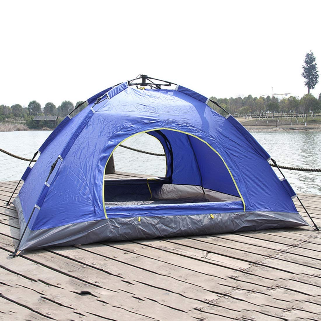 Klerokoh Automatisches Zelt mit 2 Personen für Das Wilde Kampieren im Freien (Farbe : Blau)