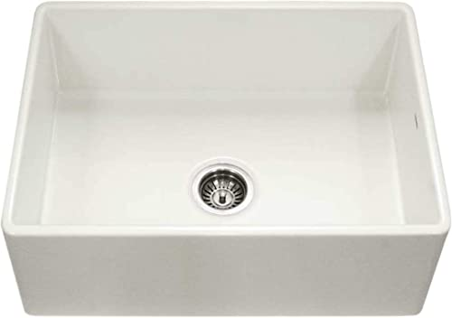 Houzer PTS-4100 BQ Platus Series Apron-Front Fireclay Single Bowl Kitchen Sink, 30 , Biscuit