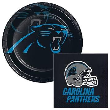 Amazon Carolina Panthers Football Lunch Plates Napkins Party