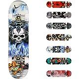 "WeSkate Completo Skateboard para Principiantes 31""x8"" 7 Capas Monopatín de Madera de Arce con rodamientos ABEC-7 Tabla…"