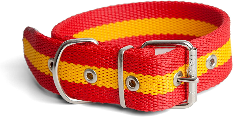 Collar Cinta Bandera de España para Perro Reforzada de 4x65cm: Amazon.es: Deportes y aire libre