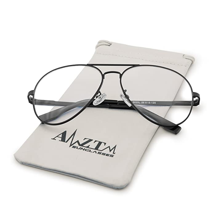 89e0e608f3 AMZTM Outdoor Reading Working Anti Blue Light Glasses Classic Fashion Retro Double  Bridge Metal Frame Non