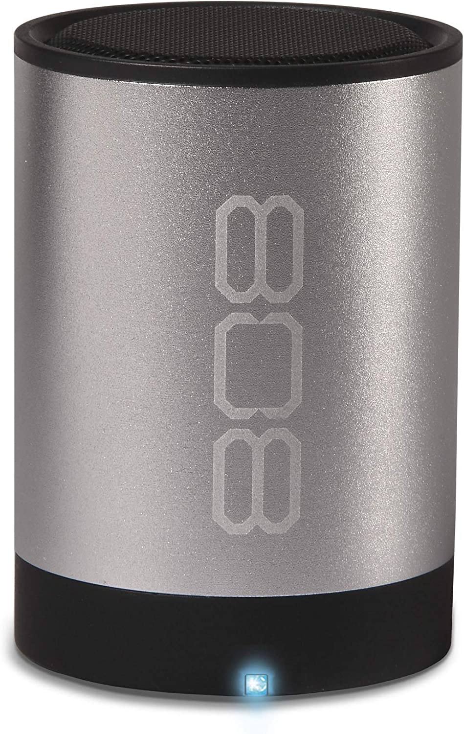 Wireless Bluetooth Speaker 808 CANZ 2 - Silver - Portable Bluetooth Speaker System with Powerful Bass and Dynamic Range