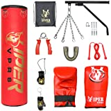 13 Piece 5ft heavy Filled Boxing Punch Bag Set ,Gloves,Bracket,Chains MMA Pad