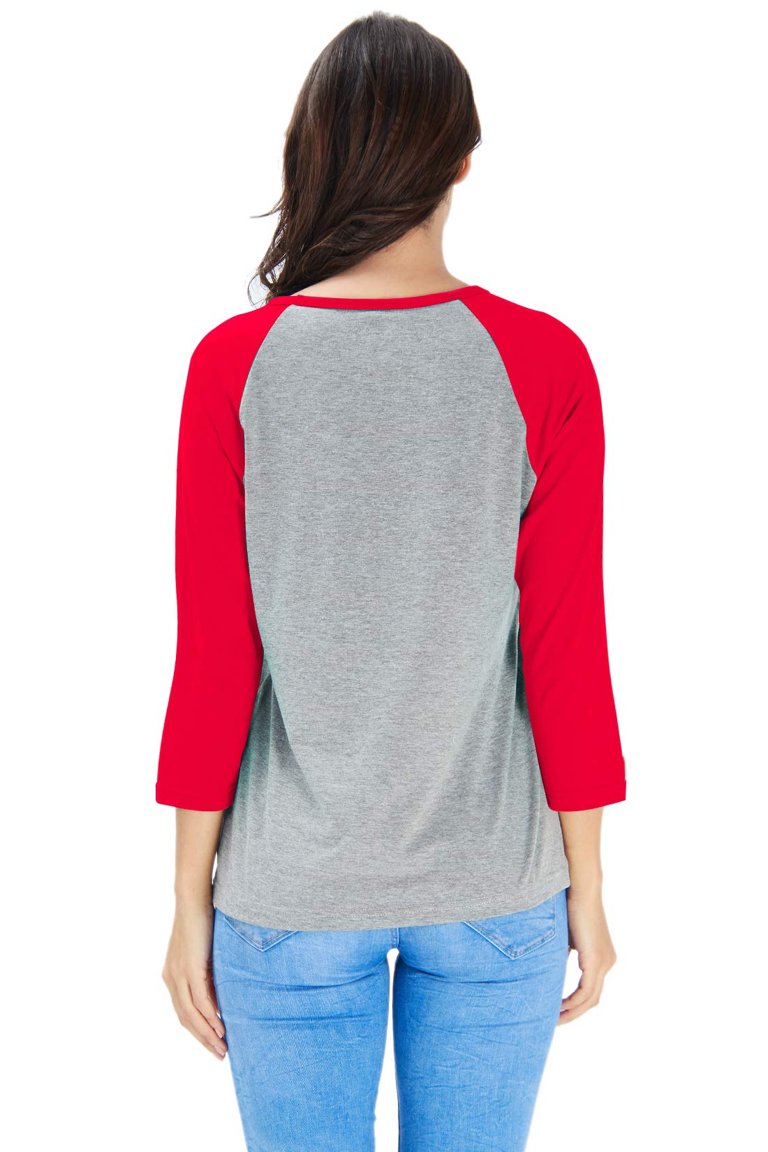 Goodstoworld Women Christian T-Shirt Women Raglan Long Sleeve Casual Holiday Party Blouse Tee Top