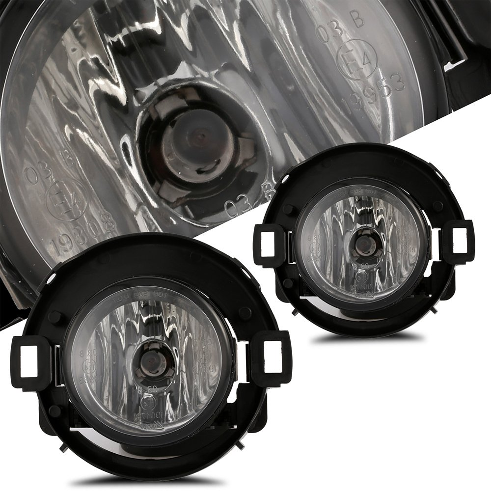 Scitoo Fog Light Assembly Kit fit NISSAN FRONTIER 2010 2011 2012 2013 2014 2015 2016 2017Projector Fog Lamp With Clear Lens In Pair