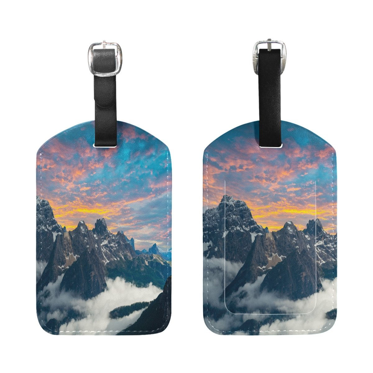 1Pcs Saobao Travel Luggage Tag Famous Italian National Park PU Leather Baggage Suitcase Travel ID Bag Tag