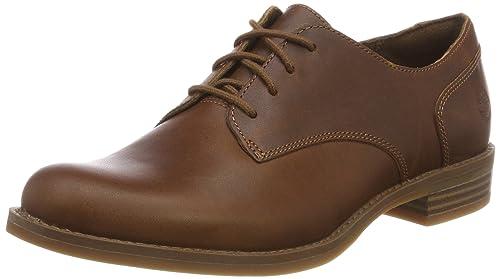 Timberland Kiri Up New Lace, Zapatos de Cordones Oxford para Mujer, Negro (Jet Black/White 015), 40 EU
