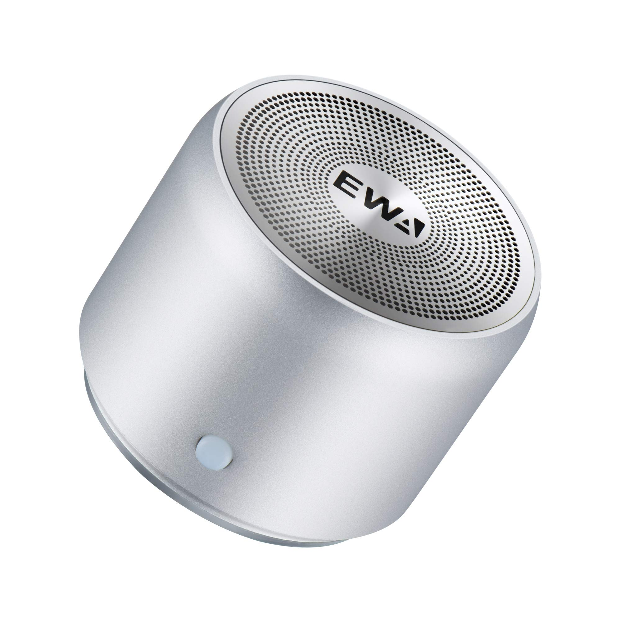 EWA A106 Portable Mini Bluetooth Speaker, Enhanced Bass and High Definition Sound, Portable Design, for iPhone, iPad,Nexus,Laptops and More (Silver)