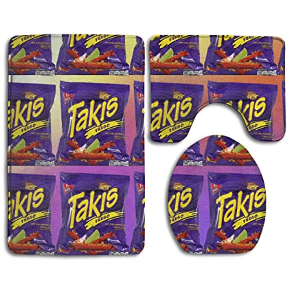 Amazon.com: STWINW Takis Fuego Non-Slip Rubber Backing 3 ...