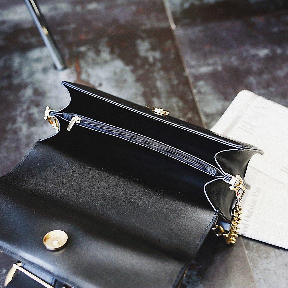 Amazon.com: NEW Women Metal Swallow Flap Bag Designer PU Leather Fashion Rivet Messenger Bags Bolsa Feminina Ladies Single Shoulder bag: Clothing