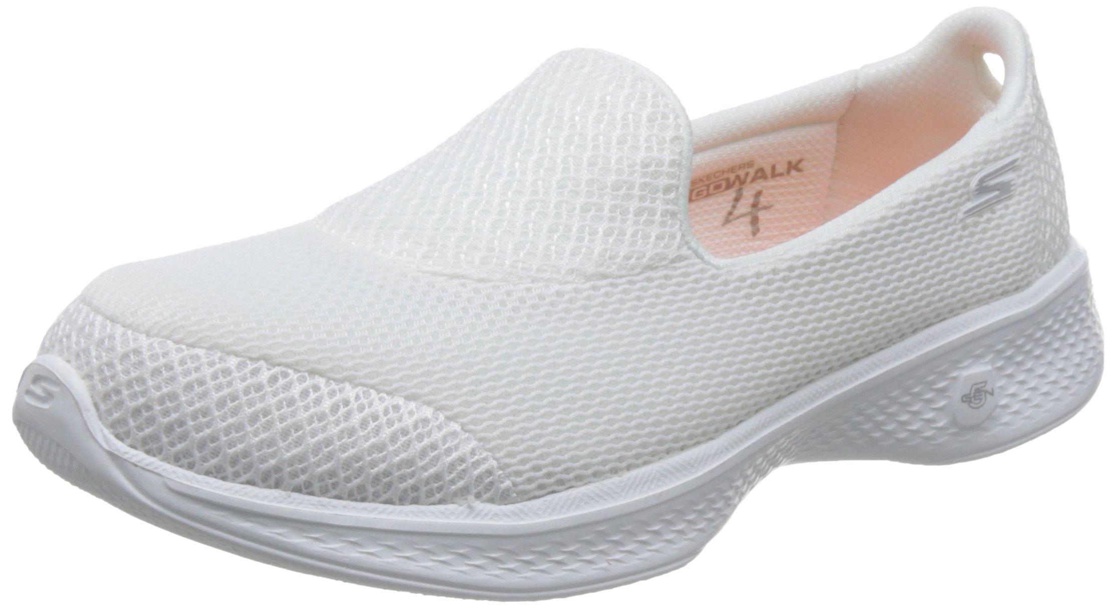 23d4308f843b Galleon - Skechers Go Walk 4 Propel Womens Slip On Walking Shoes White 8