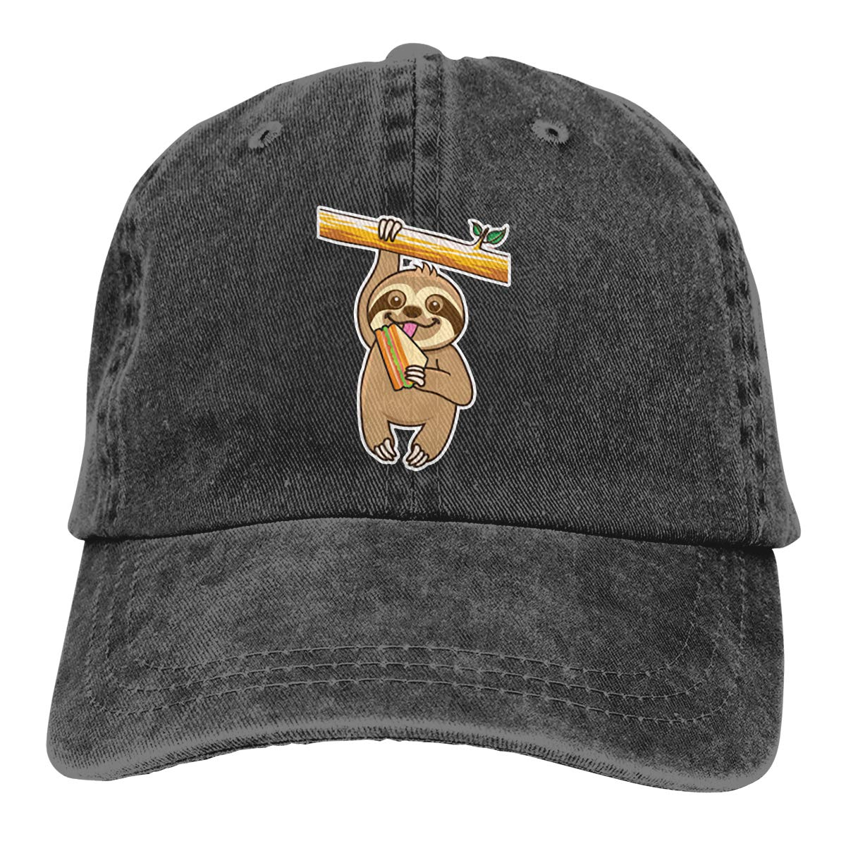 GourtG Sloth and Turtles Denim Baseball Caps Hat Adjustable Cotton Sport Strap Cap for Men Women