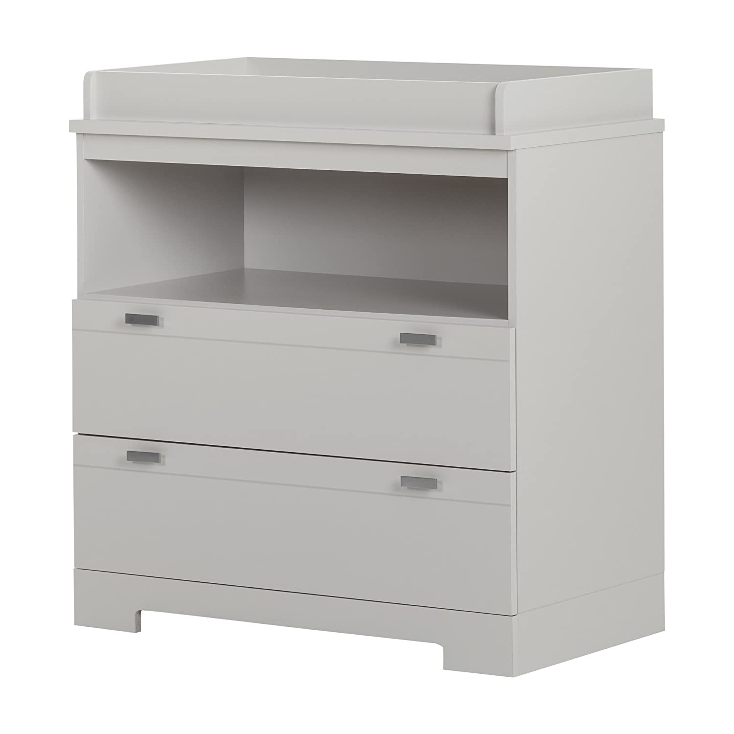 South Shore Furniture Reevo Changing Table with Storage, Soft Gray 10272