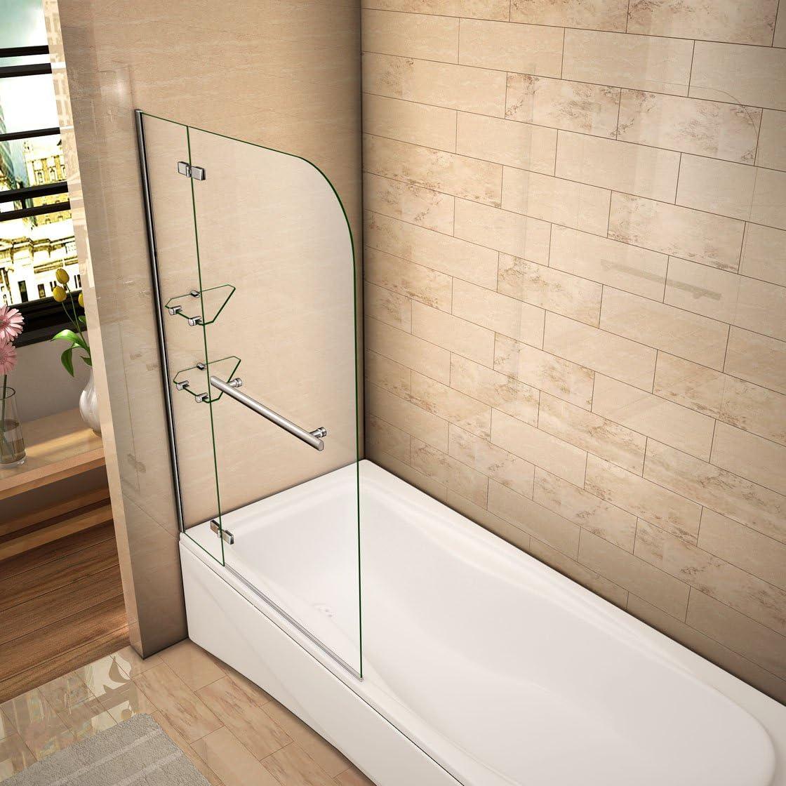 120x140cm Mamparas baño pantalla para bañera de vidrio templado de ...
