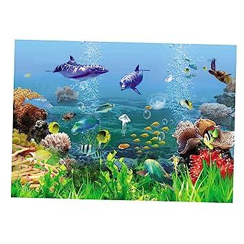 MagiDeal Imagen de Fondo Tanque de Pescados Accesorios Telón de Fondo de Acuario Cómodo - Estilo 11, S: Amazon.es: Hogar
