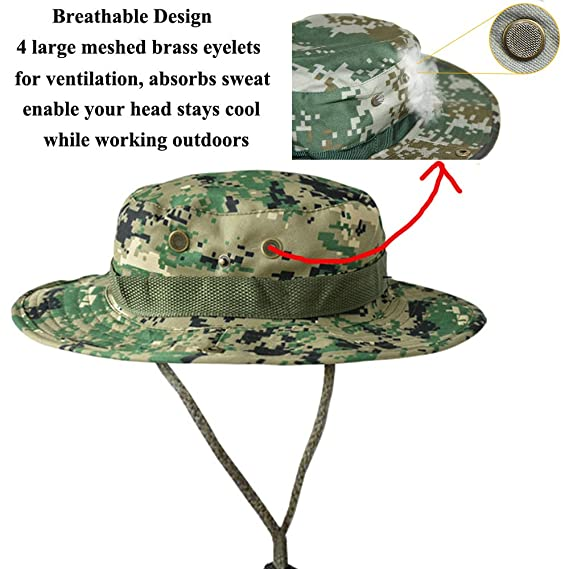 54f97bc2c63 Amazon.com   AYAMAYA Wide Brim Fishing Hat Summer Boonie Hats