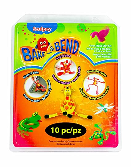 Amazon Sculpey Bake And Bend Clay Multicolor 10 Pack Toys