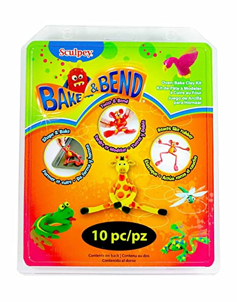 Polyform Sculpey Clay Activity Kit Bake And Bend Amazon