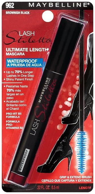 59f074fb9a4 Amazon.com : Maybelline New York Lash Stiletto Ultimate Length Waterproof  Mascara, Brownish Black 962, 0.22 Fluid Ounce : Maybelline Lash Stiletto  Very ...