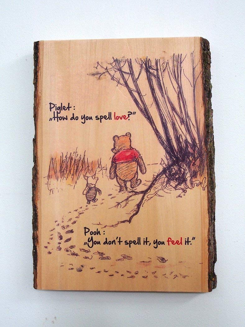 Amazon How Do You Spell Love Wood Sign Winnie The Pooh