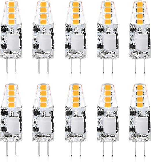 2er Pack 10W G4 Halogen Leuchtmittel Glühbirne 2700K 120lm warmweiß