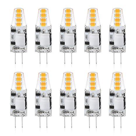 Reteck G4 1.5W LED Lampen, 130LM, Ersetzt 10W Halogenlampen, Warmweiß(2900K), Nicht Dimmbar, 12V AC/DC, G4 LED Leuchtmittel B