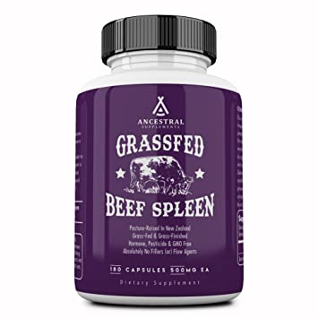 Ancestral Supplements Grass Fed Beef Spleen (Desiccated) — Immune, Allergy,  Iron (5 X's More