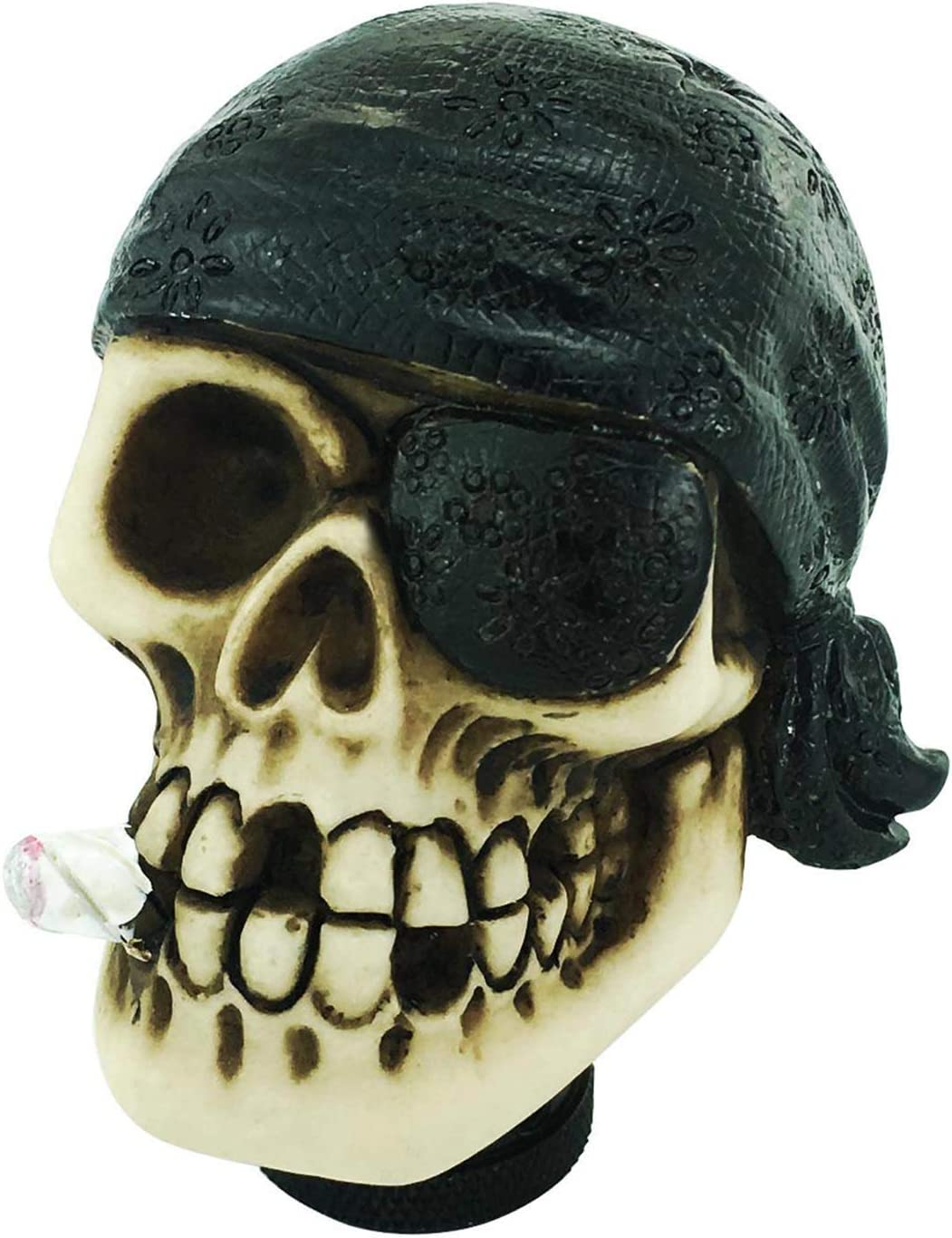 Red Abfer Manual Knob Shifter Skull Gear Shift Stick Car Shifting Knobs One-Eyed Pirate Style Fit Universal Transport Vehicles
