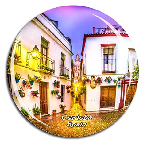 Amazon.com: Weekino Spain Flower alley Cordoba Fridge Magnet ...