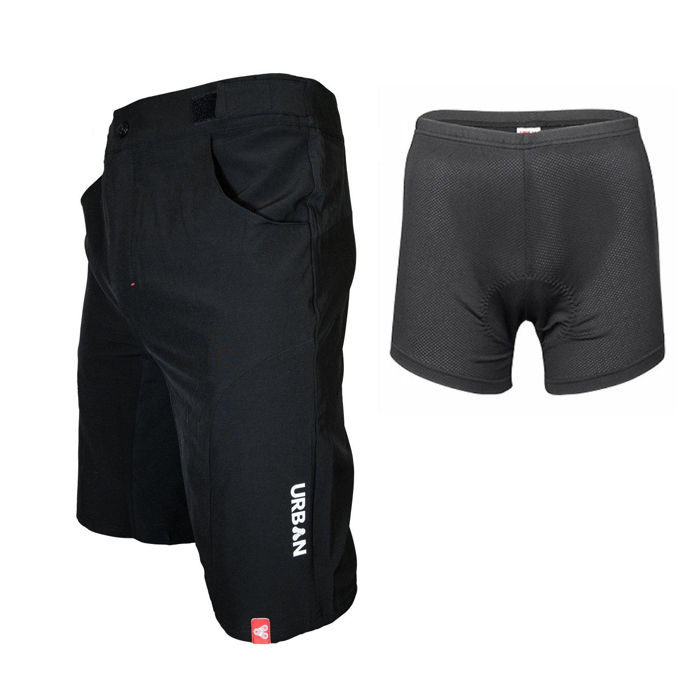 Flex Soft Shell Mountain Bike Shorts with Seamless Under Panel Urban Cycling Apparel Flex MTB Trail Shorts