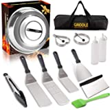 Vomelon Griddle Accessories Kit,Flat Top Griddle Tools Set for Camp Chef Grilling Hibachi Tool Set with Basting Cover…