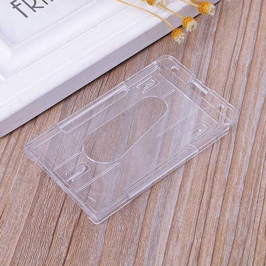 1 funda de plástico duro para tarjetas de identificación ...