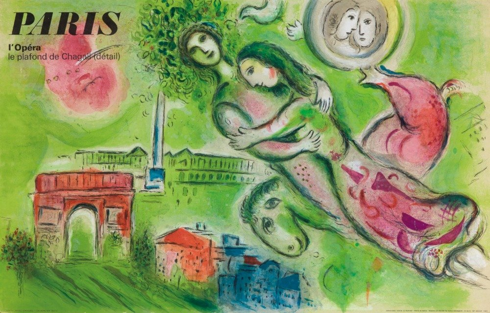 パリオペラヴィンテージポスター(アーティスト:シャガール)フランスC。1965 36 x 54 Giclee Print LANT-63488-36x54 36 x 54 Giclee Print  B01MG3JYKT